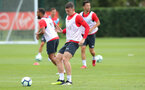 SOUTHAMPTON, ENGLAND - AUGUST 14: Pierre-Emile Hojbjerg during a Southampton FC training session at the Staplewood Campus on August 14, 2018 in Southampton, England. (Photo by Matt Watson/Southampton FC via Getty Images)