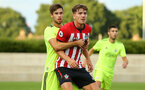 SOUTHAMPTON, ENGLAND - AUGUST 14: Sam Gallagher (middle) during the U23 International Cup match between Southampton FC vs Dinamo Zagreb pictured at Staplewood Complex on August 14, 2018 in Southampton, England. (Photo by James Bridle - Southampton FC/Southampton FC via Getty Images)