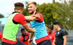 SOUTHAMPTON, ENGLAND - AUGUST 15:  Aaron O'Driscoll (Middle) pictured during a U23s training session at Staplewood Complex on August 15, 2018 in Southampton, England. (Photo by James Bridle - Southampton FC/Southampton FC via Getty Images)