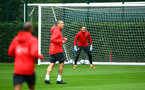 SOUTHAMPTON, ENGLAND - AUGUST 16: Harry lewis (middle) during a Southampton FC training session at Staplewood Complex on August 16, 2018 in Southampton, England. (Photo by James Bridle - Southampton FC/Southampton FC via Getty Images)