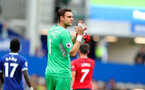 LIVERPOOL, ENGLAND - AUGUST 18: Alex McCarthy of Southampton during the Premier League match between Everton FC and Southampton FC at Goodison Park on August 18, 2018 in Liverpool, United Kingdom. (Photo by Matt Watson/Southampton FC via Getty Images)