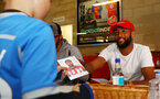 Nathan Redmond during a Southampton FC signing session at St Marys Stadium, Southampton, 20th August 2018
