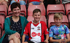 Saints fans watch the Southampton FC team photo and open training session at St Mary's Stadium, Southampton                                Picture: Chris Moorhouse               Monday 20th August 2018             FOR EDITORIAL USE ONLY