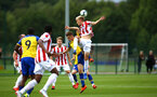 LONDON, ENGLAND - AUGUST 20: Jake Hesketh (middle) during an U23 Pl2 match between Southampton FC and Stoke City Clayton Training Ground on August 20, 2018 in London, England. (Photo by James Bridle - Southampton FC/Southampton FC via Getty Images)