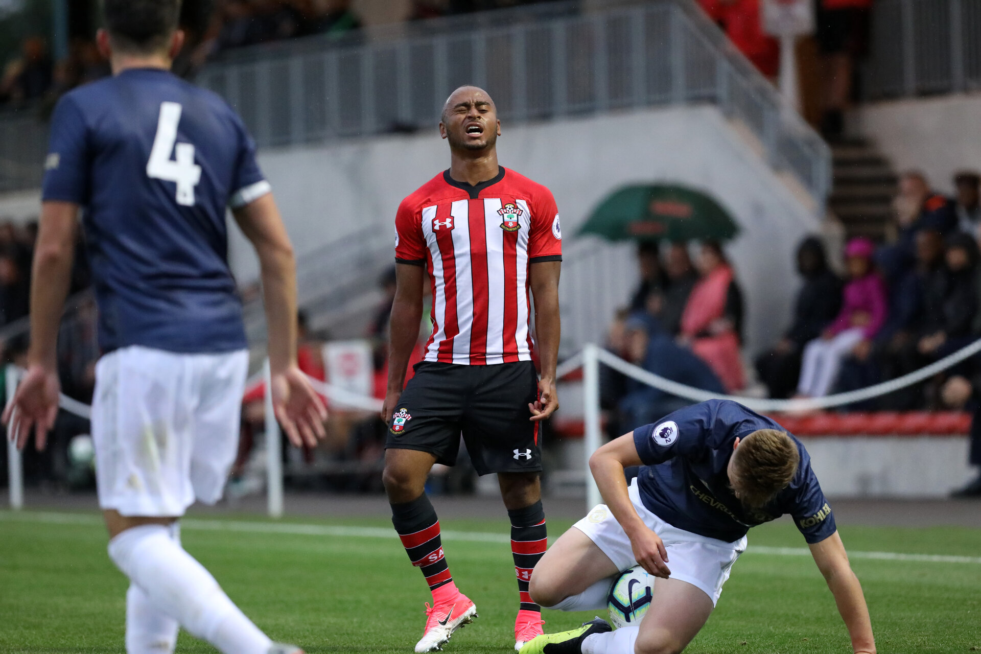 Southampton's Tyreke Johnson. Southampton U23s v Manchester United U23s, Staplewood Campus, Marchwood, Southampton            Picture: Chris Moorhouse               Friday 24th August 2018             FOR EDITORIAL USE ONLY