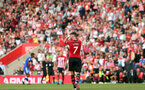 SOUTHAMPTON, ENGLAND - AUGUST 25: Shane Long of Southampton during the Premier League match between Southampton FC and Leicester City at St Mary's Stadium on August 25, 2018 in Southampton, United Kingdom. (Photo by Chris Moorhouse/Southampton FC via Getty Images)