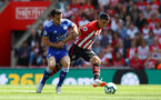 SOUTHAMPTON, ENGLAND - AUGUST 25: Mohamed Elyounoussi(R) and Ben Chilwell of Southampton during the Premier League match between Southampton FC and Leicester City at St Mary's Stadium on August 25, 2018 in Southampton, United Kingdom. (Photo by Matt Watson/Southampton FC via Getty Images)