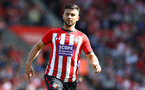 SOUTHAMPTON, ENGLAND - AUGUST 25: Shane Long of Southampton during the Premier League match between Southampton FC and Leicester City at St Mary's Stadium on August 25, 2018 in Southampton, United Kingdom. (Photo by Matt Watson/Southampton FC via Getty Images)
