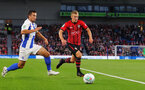 BRIGHTON, ENGLAND - AUGUST 28: James Ward-Prowse(R) of Southampton during the Carabao Cup Second Round match between Brighton & Hove Albion and Southampton at American Express Community Stadium on August 28, 2018 in Brighton, England. (Photo by Matt Watson/Southampton FC via Getty Images)