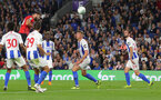 BRIGHTON, ENGLAND - AUGUST 28: Charlie Austin of Southampton scores during the Carabao Cup Second Round match between Brighton & Hove Albion and Southampton at American Express Community Stadium on August 28, 2018 in Brighton, England. (Photo by Matt Watson/Southampton FC via Getty Images)