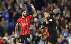 BRIGHTON, ENGLAND - AUGUST 28: Charlie Austin of Southampton celebrates after scoring during the Carabao Cup Second Round match between Brighton & Hove Albion and Southampton at American Express Community Stadium on August 28, 2018 in Brighton, England. (Photo by Matt Watson/Southampton FC via Getty Images)