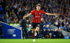 BRIGHTON, ENGLAND - AUGUST 28: Sam Gallagher of Southampton FC  during the Carabao Cup Second Round match between Brighton & Hove Albion and Southampton at American Express Community Stadium on August 28, 2018 in Brighton, England. (Photo by James Bridle - Southampton FC/Southampton FC via Getty Images)