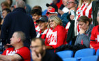 BRIGHTON, ENGLAND - AUGUST 28: Southampton FC  fans ahead of the Carabao Cup Second Round match between Brighton & Hove Albion and Southampton at American Express Community Stadium on August 28, 2018 in Brighton, England. (Photo by James Bridle - Southampton FC/Southampton FC via Getty Images)