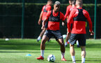 SOUTHAMPTON, ENGLAND - AUGUST 30: Mario Lemina during a Southampton FC training session at Staplewood the Campus on August 30, 2018 in Southampton, England. (Photo by Matt Watson/Southampton FC via Getty Images)