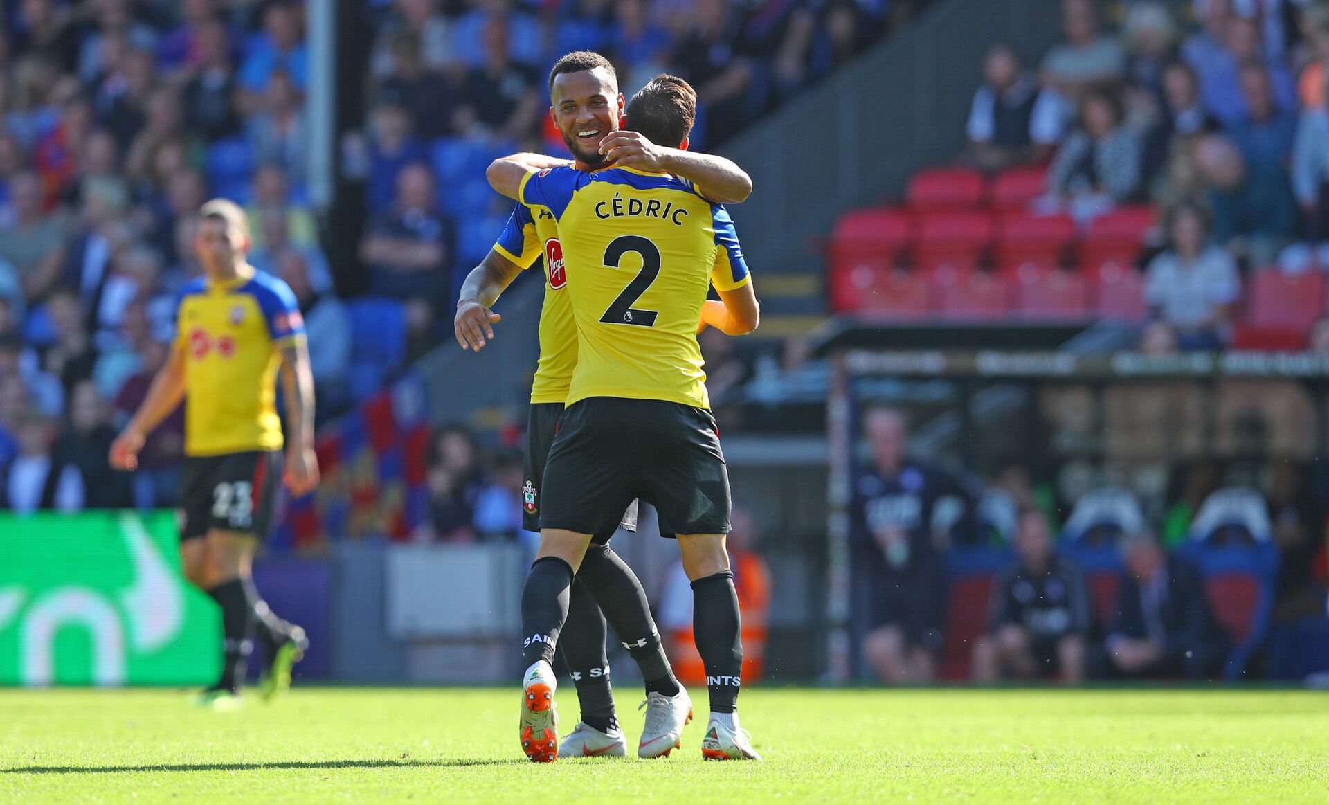 LONDON, ENGLAND - SEPTEMBER 01: Ryan Bertrand and Cedric of Southampton during the Premier League match between Crystal Palace and Southampton FC at Selhurst Park on September 1, 2018 in London, United Kingdom. (Photo by Matt Watson/Southampton FC via Getty Images)