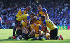 LONDON, ENGLAND - SEPTEMBER 01: players of Southampton celebrate during the Premier League match between Crystal Palace and Southampton FC at Selhurst Park on September 1, 2018 in London, United Kingdom. (Photo by Matt Watson/Southampton FC via Getty Images)