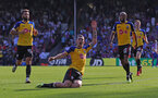 LONDON, ENGLAND - SEPTEMBER 01: Pierre-Emile Hojbjerg(centre) of Southampton celebrates after scoring during the Premier League match between Crystal Palace and Southampton FC at Selhurst Park on September 1, 2018 in London, United Kingdom. (Photo by Matt Watson/Southampton FC via Getty Images)