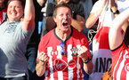 LONDON, ENGLAND - SEPTEMBER 01: fans of Southampton during the Premier League match between Crystal Palace and Southampton FC at Selhurst Park on September 1, 2018 in London, United Kingdom. (Photo by Matt Watson/Southampton FC via Getty Images)