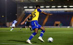 COLCHESTER, ENGLAND - SEPTEMBER 04: Marcus Barnes (middle) during the match between Colchester United vs Southampton FC at Jobserve Community Stadium on September 04, 2018 in Colchester, England. (Photo by James Bridle - Southampton FC/Southampton FC via Getty Images)