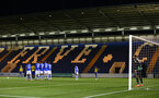 COLCHESTER, ENGLAND - SEPTEMBER 04: Will Smallbone makes a freekick during the Check a Trade Cup match between Colchester United vs Southampton FC at Jobserve Community Stadium on September 04, 2018 in Colchester, England. (Photo by James Bridle - Southampton FC/Southampton FC via Getty Images)