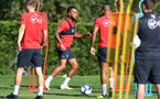 Ryan Bertrand during a Southampton FC training session, at the Staplewood Campus, Southampton, 6th September 2018