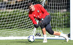 Fraser Forster during a Southampton FC training session, at the Staplewood Campus, Southampton, 6th September 2018