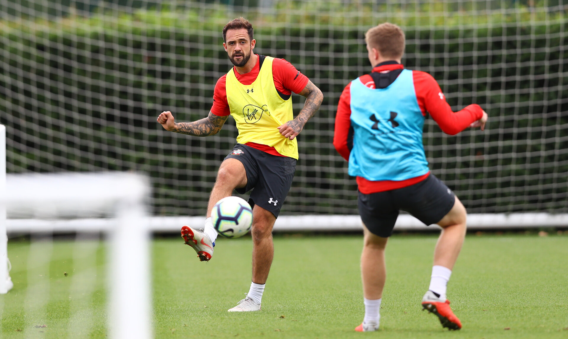 SOUTHAMPTON, ENGLAND - SEPTEMBER 11: Danny Ings during a Southampton FC training session at the Staplewood Campus on September 11, 2018 in Southampton, England. (Photo by Matt Watson/Southampton FC via Getty Images)