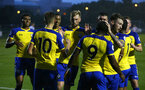 NEWCASTLE, ENGLAND - SEPTEMBER 14: Michael Obafemi scores and celebrates with fellow team mates during the U23's PL2 match between Newcastle United and Southampton FC pictured at Northumberland County FA ground on September 14, 2018 in Southampton, England. (Photo by James Bridle - Southampton FC/Southampton FC via Getty Images)