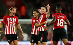 SOUTHAMPTON, ENGLAND - SEPTEMBER 17TH: Pierre-Emile Hojbjerg of Southampton celebrates his goal during the Premier League match between Southampton FC and Brighton & Hove Albion at St Mary's Stadium on September 17, 2018 in Southampton, United Kingdom. (Photo by Chris Moorhouse/Southampton FC via Getty Images)
