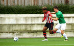 SOUTHAMPTON, ENGLAND - SEPTEMBER 22: Enzo Robise (left) during the U18 Premier League match between Southampton FC and Brighton Hove Albion at Staplewood Training Ground on September 22, 2018 in Southampton, United Kingdom. (Photo by James Bridle - Southampton FC/Southampton FC via Getty Images)