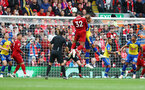 LIVERPOOL, ENGLAND - SEPTEMBER 22: Joel Matip scores for Liverpool during the Premier League match between Liverpool FC and Southampton FC at Anfield on September 22, 2018 in Liverpool, United Kingdom. (Photo by Matt Watson/Southampton FC via Getty Images)