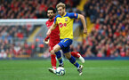 LIVERPOOL, ENGLAND - SEPTEMBER 22: Stuart Armstrong of Southampton during the Premier League match between Liverpool FC and Southampton FC at Anfield on September 22, 2018 in Liverpool, United Kingdom. (Photo by Matt Watson/Southampton FC via Getty Images)
