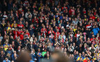 LIVERPOOL, ENGLAND - SEPTEMBER 22: fans of Southampton during the Premier League match between Liverpool FC and Southampton FC at Anfield on September 22, 2018 in Liverpool, United Kingdom. (Photo by Matt Watson/Southampton FC via Getty Images)