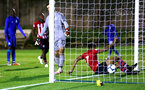 SOUTHAMPTON, ENGLAND - SEPTEMBER 26: Marcus Barnes scores for Southampton FC (right) during the International Cup where Southampton FC play FC Porto pictured at Southampton training session at Staplewood Complex on September 26, 2018 in Southampton, England. (Photo by James Bridle - Southampton FC/Southampton FC via Getty Images)