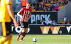WOLVERHAMPTON, ENGLAND - SEPTEMBER 29: Wesley Hoedt of Southampton during the Premier League match between Wolverhampton Wanderers and Southampton FC at Molineux on September 29, 2018 in Wolverhampton, United Kingdom. (Photo by Matt Watson/Southampton FC via Getty Images)