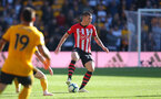 WOLVERHAMPTON, ENGLAND - SEPTEMBER 29: Pierre-Emile Hojbjerg of Southampton during the Premier League match between Wolverhampton Wanderers and Southampton FC at Molineux on September 29, 2018 in Wolverhampton, United Kingdom. (Photo by Matt Watson/Southampton FC via Getty Images)
