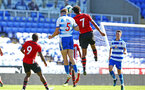 SOUTHAMPTON, ENGLAND - SEPTEMBER 29: Macrus Barnes (right) of Southampton FC during a PL2 U23s match where Reading FC play Southampton FC at Madjeski Stadium on September 29, 2018 in Reading, England. (Photo by James Bridle - Southampton FC/Southampton FC via Getty Images)