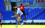 SOUTHAMPTON, ENGLAND - SEPTEMBER 29: Micheal Obafei (right) of Southampton FC during a PL2 U23s match where Reading FC play Southampton FC at Madjeski Stadium on September 29, 2018 in Reading, England. (Photo by James Bridle - Southampton FC/Southampton FC via Getty Images)
