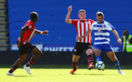 SOUTHAMPTON, ENGLAND - SEPTEMBER 29: LtoR Michael Obafemi, Ben Rowthorn during a PL2 U23s match where Reading FC play Southampton FC at Madjeski Stadium on September 29, 2018 in Reading, England. (Photo by James Bridle - Southampton FC/Southampton FC via Getty Images)