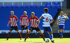 SOUTHAMPTON, ENGLAND - SEPTEMBER 29: Will Smallbone of Southampton FC  (middle) during a PL2 U23s match where Reading FC play Southampton FC at Madjeski Stadium on September 29, 2018 in Reading, England. (Photo by James Bridle - Southampton FC/Southampton FC via Getty Images)