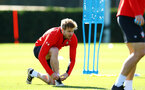 SOUTHAMPTON, ENGLAND - OCTOBER 01: Stuart Armstrong (left) during a Southampton FC training session at Staplewood Complex on October 1, 2018 in Southampton, England. (Photo by James Bridle - Southampton FC/Southampton FC via Getty Images)