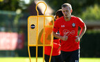 SOUTHAMPTON, ENGLAND - OCTOBER 01: James Ward-Prowse (right) during a Southampton FC training session at Staplewood Complex on October 1, 2018 in Southampton, England. (Photo by James Bridle - Southampton FC/Southampton FC via Getty Images)