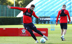SOUTHAMPTON, ENGLAND - OCTOBER 01: Charlie Austin (Left) during a Southampton FC training session at Staplewood Complex on October 1, 2018 in Southampton, England. (Photo by James Bridle - Southampton FC/Southampton FC via Getty Images)