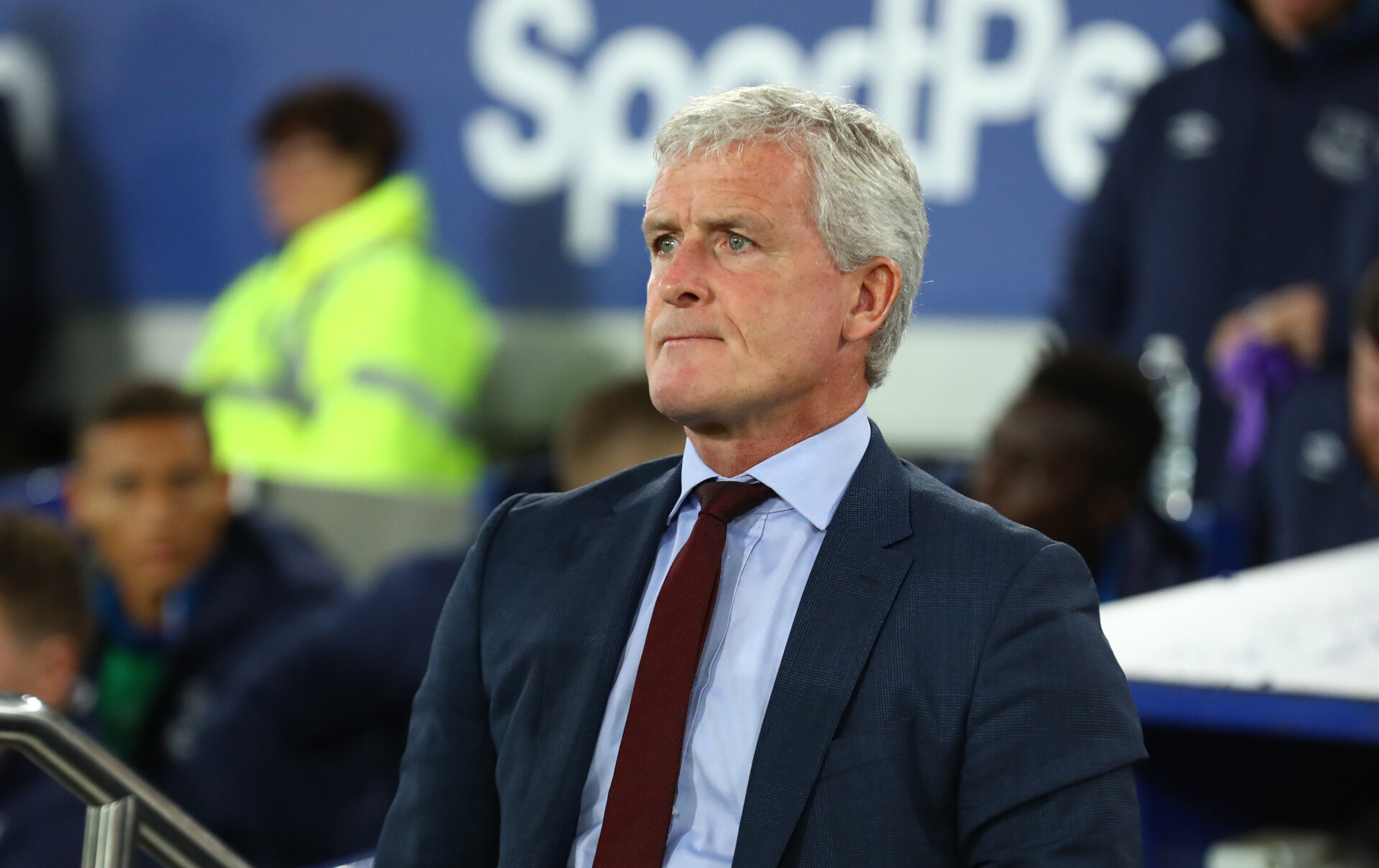 LIVERPOOL, ENGLAND - OCTOBER 02: Mark Hughes of Southampton during the Carabao Cup Third Round match between Everton and Southampton at Goodison Park on October 2nd, 2018 in Liverpool, England. (Photo by Matt Watson/Southampton FC via Getty Images)