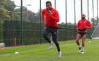 SOUTHAMPTON, ENGLAND - OCTOBER 05: Ryan Bertrand(L) and Nathan Redmond during a Southampton FC training session at the Staplewood Campus on October 5, 2018 in Southampton, England. (Photo by Matt Watson/Southampton FC via Getty Images)