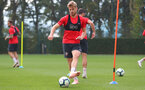 SOUTHAMPTON, ENGLAND - OCTOBER 05: Stuart Armstrong during a Southampton FC training session at the Staplewood Campus on October 5, 2018 in Southampton, England. (Photo by Matt Watson/Southampton FC via Getty Images)