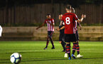 SOUTHAMPTON, ENGLAND - OCTOBER 05: Callum Slattery scores from the penalty spot during the PL2 match between Southampton FC and Leeds United FC U23s pictured at Staplewood Complex on October 5, 2018 in Southampton, England. (Photo by James Bridle - Southampton FC/Southampton FC via Getty Images)