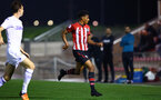 SOUTHAMPTON, ENGLAND - OCTOBER 05: Marcus Barnes (middle) during the PL2 match between Southampton FC and Leeds United FC U23s pictured at Staplewood Complex on October 5, 2018 in Southampton, England. (Photo by James Bridle - Southampton FC/Southampton FC via Getty Images)