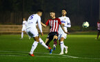 SOUTHAMPTON, ENGLAND - OCTOBER 05: Callum Slattery (middle) during the PL2 match between Southampton FC and Leeds United FC U23s pictured at Staplewood Complex on October 5, 2018 in Southampton, England. (Photo by James Bridle - Southampton FC/Southampton FC via Getty Images)