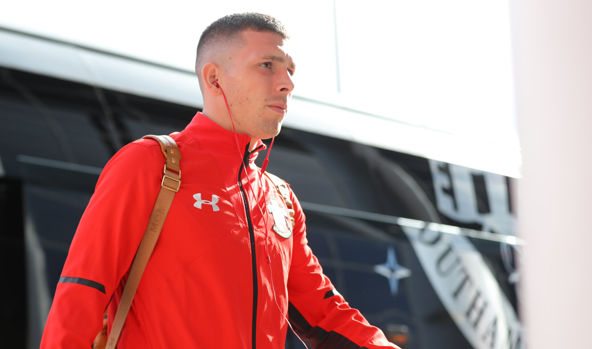 SOUTHAMPTON, ENGLAND - OCTOBER 07: Pierre-Emile Hojbjerg of Southampton ahead of the Premier League match between Southampton FC and Chelsea FC at St Mary's Stadium on October 7, 2018 in Southampton, United Kingdom. (Photo by Matt Watson/Southampton FC via Getty Images)